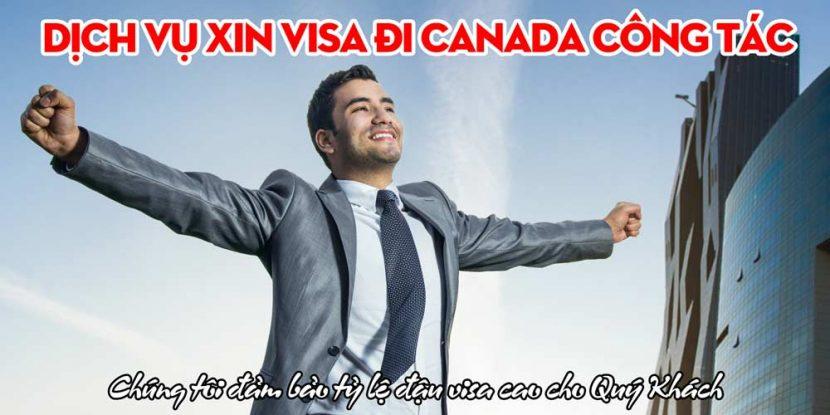 xin visa canada công tác